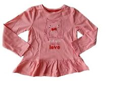 NWT Girl's Gymboree Valentine's Day owl long sleeve shirt 12 18 24 months 2T 3T