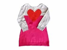 NWT Girl's Gymboree Valentine's Day heart long sleeve sweater dress ~ 5 7
