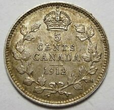 1912 Canada 5 Silver Cents GEORGE V