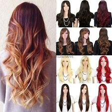 Full Hair Wigs Long Straight Curly Cosplay Costume Party Fancy Dress With Fringe