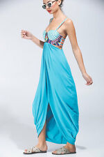 NWT Mara Hoffman embroidered blue turquoise maxi dress size XS  -$288