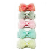 Mini Snap 5 Pack Tuxedo Bows Baby Wisp Mini Snap Clips Fine Hair