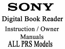 PRS Sony Digital Book Reader Touch Manual (ALL MODELS)