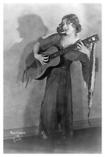 1923 Mary Pickford With Guitar Silent Movie Actress Hollywood Celebrity Photo