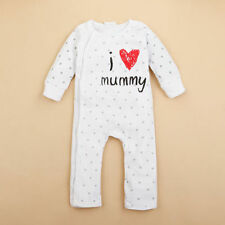 Newborn Baby Boy Girls I Love Daddy/Mummy Bodysuit Outfit Costume Romper Clothes