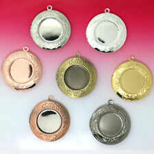 Lots Bronze Tone Rose Gold PLated Photo Locket Setting Frame Charm Pendants 32mm