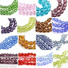 Colorful Round Faceted Crystal Glass Loose Beads For Jewelry Diy Fashion Craft