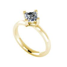 .50ct Solitaire Princess Cut Ring Certified Natural Diamond 18ct Gold FW106