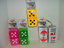 """Premium 3"""" Fuzzy Dice Ultra Classy Old school Charm Hanging Dice rearview mirror"""