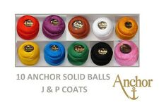 Anchor Pearl Cotton Embroidery Cotton thread size 8 , 85m 10 assorted Ball