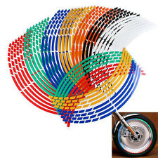 Motorcycle Bicycle Car 18'' Wheel Cycling Reflective Rim Stickers Decal Colorful
