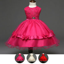 Girls Flower Bowknot Formal Dress Bridesmaid/Prom/Wedding/Party/Princess/Pageant