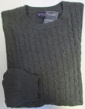 nwt-roundtree-yorke-cable-sweater-crewneck-gray-grey-xl