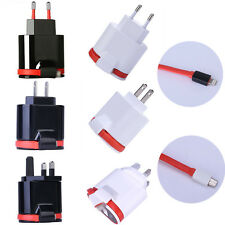 Universal Dual 2 Port USB EU/US/UK Plug 5V/3.4A Wall Charger Adapter With Cable