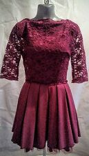 Jones and Jones red skater dress with lace bodice UK12 Prom Cruise Wedding Races