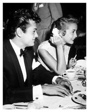 Photo Of Hollywood Movie Actor Tony Curtis With Actress Janet Leigh At Dinner