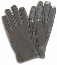 ISOTONER SMARTOUCH 2.0 TOUCH SCREEN MEN LARGE GRAY GLOVES IPHONE ANDROID TABLET