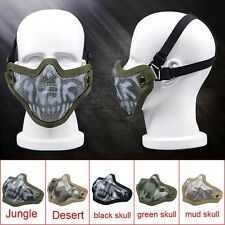 Protective Paintball Gear Half Face Mask Strike Metal Mesh Airsoft Game Military