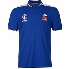 UEFA EURO 2016 Slovakia Polo Shirt Mens Blue Football Soccer Collared Top