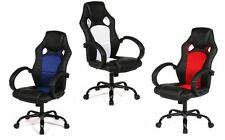 Executive Adjust High Back Home Computer Office Gaming Desk PU Leather Chair