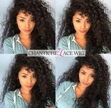 Curly Lace Wig Indian Remy Human Hair Lace Front/Full Lace Wigs African American