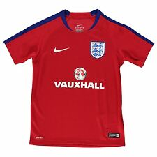 Nike England Training Jersey Juniors Boys Red/Royal Football Soccer Shirt Top