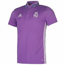 Adidas Real Madrid Polo Shirt Mens Purple Football Soccer Top T-Shirt