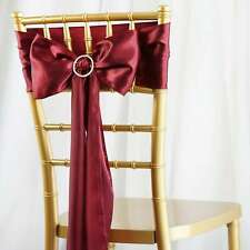 25/PK ~NEW~ Satin Chair Sash Bow Wedding Party Banquet 20+ Colors!