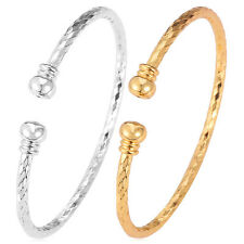 Simple Cuff Bracelet 18K Gold Plated Platinum Plated Shiny Jewelry for Girls