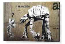"BANKSY ""I AM YOUR FATHER"" REPRO CANVAS BOX PRINT A4, A3, A2, A1"
