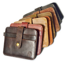 Genuine Cowhide Leather ID Card Case Holder Pouch Thin Money Bag Wallet Purse