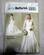 Butterick Misses Wedding Bridal Dress Advanced Sewing Pattern B5731 Uncut FF