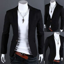 1X Fashion Men's Slim Fit Stylish Casual One Button Suit Blazers Coat Jacket Hot