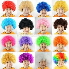 Halloween Clown Curly Afro Circus Fancy Dress Hair Wig Xmas Party Disco Costume