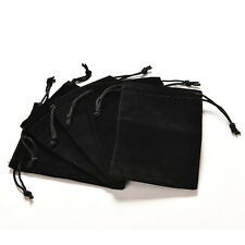 Vogue Jewelry Bag Black Velvet Necklace Ring Earrings Storage Bag Display QW