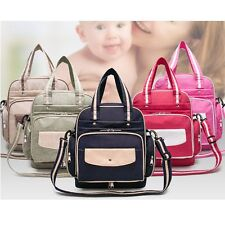 Fashion Travel Mummy Changing Shoulder Bags Baby Nappy Diaper Tote Luggage Bags