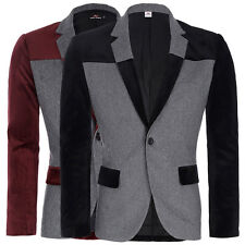 New Mens Casual Slim Fit Formal One Button Suit Wool Blends Blazer Coat Jacket