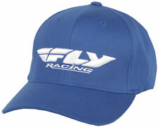 Fly Racing Casual Blue/White Mens & Youth Podium Hat 2017