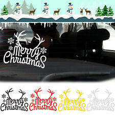 1pc Merry Christmas Reindeer Horn Car Home Window Funny Sticker Decal New