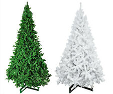 HUGE HEAVY DUTY 12ft White / Green Xmas Christmas Trees  Stand 365cm Tall Luxury