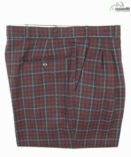 VTG Paul Smith Pleated Plaid Wool Pants Sz. 32 *Made in England*