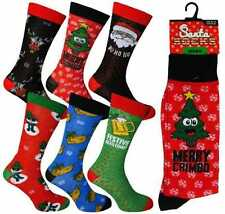 Men's Novelty Xmas Fun Christmas Character Socks From Santa Stocking Filler Gift