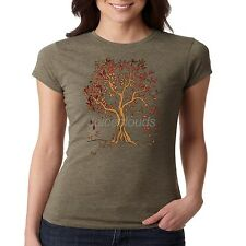 Fall Fitted Shirt Autumn Leaves Leaf Color Change Holiday Season JUNIORS
