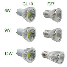 GU10 E27 COB LED Spot Light Bulbs 6W 9W 12W Energy Saving COB Spotlight Lamp