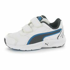 Puma Descendant Trainers Infants White/GreyBlue Baby Sneakers Shoes Footwear