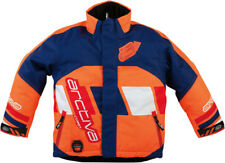 Arctiva Youth Navy Blue/Orange Comp Insulated Snowmobile Jacket