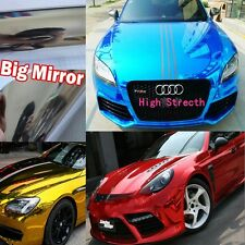 "Hot Car Glossy Mirror Chrome Vinyl Wrap Sticker Sheet Film Air Free 30"" / 60"""
