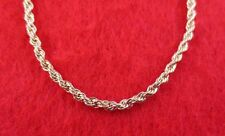 "14KT GOLD EP NECKLACE WITH 7"" BRACELET SET OF  2.5MM  ROPE FRENCH STYLE CHAIN"