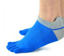 Casual Mens Trendy pure cotton Five Fingers toe sports fibre Socks QW