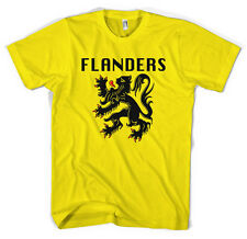 Flanders Flag Giro Tour De France Cycling Jersey Unisex T shirt All Sizes